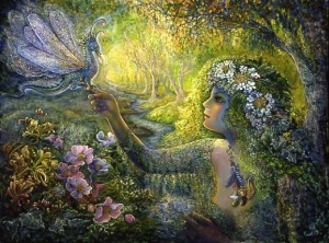 dryad dragonfly by Josephine Wall