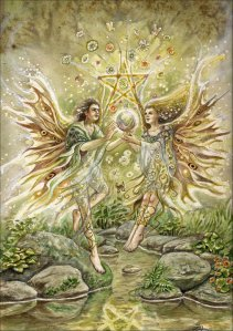 Two Faeries by Lisa Hunt