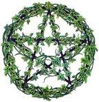 greenery pentagram