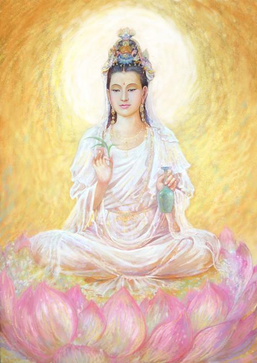 Avalokitesvara dalam wujud wanita (Miaoshan) yang lebih populer