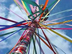 beltane may day pole